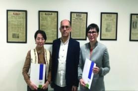 Kazakistan'dan konuk öğretim üyeleri